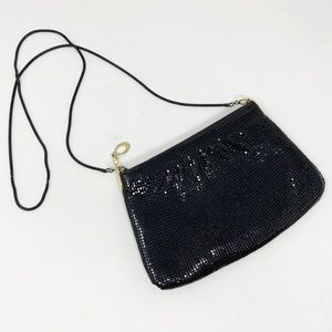 Vintage black mesh back with chain crossbody strap